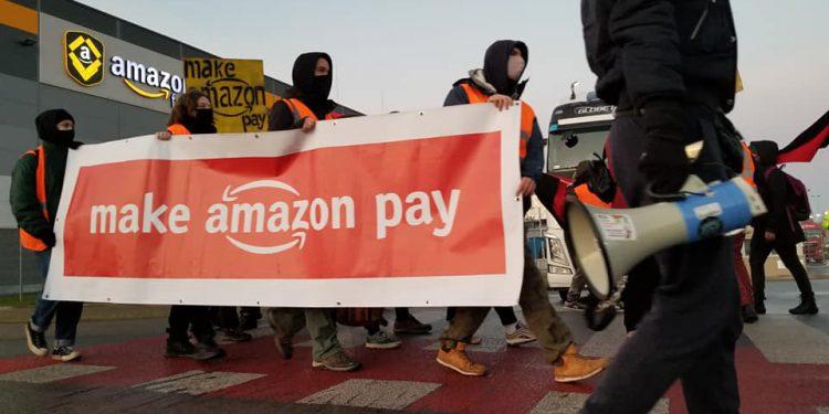 protest w amazon wrocław