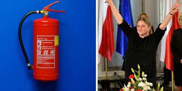 Krystyna Pawłowicz pożar